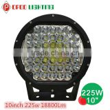 "Jeep 10"" led driving light, For offroad 4x4 18800lm 225w 10"" led driving light"