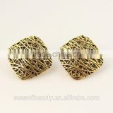 Fancy fake gold diamond jhumka stud earrings for women