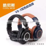 High quality wireless stereo bluetooth headset floding headphone over the ear headphones