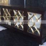 Buffet Glass - Sideboard with mirror - Wooden furniture - Modern furniture