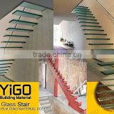 floating stairs / glass staircase / build floating staircase factory,floating stair treads