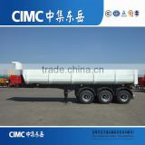 CIMC brand U Shape Dump Trailer Light weight Hydraulic Cylinder Tri Axle Tipper Semi Trailer