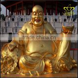 Maitreya Buddha casting bronze statue of the temple of the temple worship Buddha sculpture