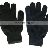 Black String knit cotton working glove