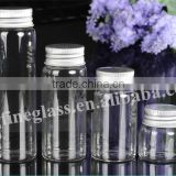 Pop mini transparent glass phial sealed cans Medical capsule bottle Loves candy food bottles with screw lid