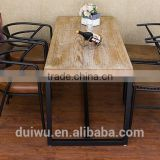 Hot selling classic rectangle wooden dinner table set