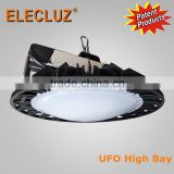 Casting aluminum body 150w 200W UFO high bay led light with MW driver factory price