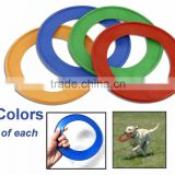 promotional Cheap logo printed pet Dog Training disc flying game plastic frisbee ring