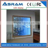 transparent oled screen led moving message display sign outdoor glass window high brightness led screen display