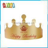 Wholesale Gold Crown Paper Party Hat For Children Birthday