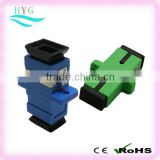 Manufacturer SC/PC(green),APC(blue),UPC fiber optical adapter(adaptors) for communication network