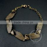 22cm vintage brass bronze fairy butterfly wings unique victorian bracelet jewelry 6450016