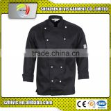 hot sale Fit black long sleeve cotton kitchen chef uniform for sale
