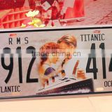 custom Tin sign car license plate frame creative metal sign cover with number Aluminum license plate sheet
