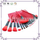 Classic hot styles! Wholesale good 24pcs wooden soft synthetic hair glitter cosmetics makeup brush set with competitive price !