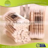 natural color disinfect plastic cotton buds tip with custom printed