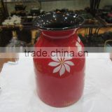 Nicely red ceramic-porcelain vase from Vietnam with exporting standard quality
