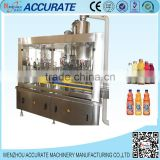 2015 hot sale professional glass bottle aseptic crown can juice filling machinery and production line