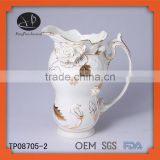 decorative ceramic water pot,Porcelain decorative teapots,ceramic kettle,hand painting gold design