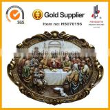 resin wall plaque last supper sculpture christmas home decoration