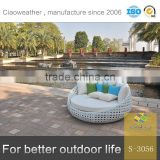 round chaise lounge chair outdoor beach sunbed