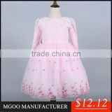 MGOO 2015 Winter Style Flowers Girl Dress Vintage Embroidery Ball Gown Tutu Lined Frock Designs MGT033