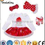 hot style high quality Baby Clothing christmas Design Toddler Girl Romper with TUTU spring Clothing For Baby