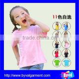 Wholesale Cheapest Cotton Plain summer Kids T-shirts for Girls Own Design