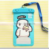W11567G Universal mobile phone waterproof bag cute cartoon transparent can touch screen mobile phone protective cover