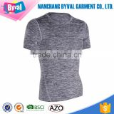 Top quality 2017 running dri fit breathable polyester heather grey short sleeve custom design tshirt sport