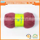 Shopping knitting wool yarn china factory best selling worsted solid dyed 100% wool roving yarn with oeko-tex quality