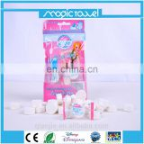 candy flow pack restaurant & hotel used disposable compressed nonwoven coin wipes magic grow towels