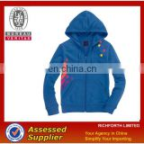 Blue hoody jacket with nylon zipper