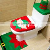 Christmas decoration toilet pad