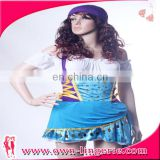 Newest design lady pirate halloween costume sexy costume for adult