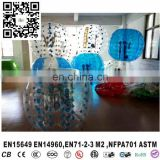 Colorful dot inflatable bumper ball personalized ball toy inflatable football suit