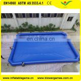 High quality Durable floating inflatable swimming pool on water for sale