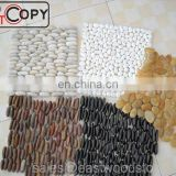 multi color standing pebble mosaic tile