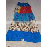 Women's Designer Handmade Cotton Printed Blue Skirt girls wear long Dress party Wear