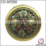 promotion acrylic diamond flower antique hand mirrors india CD-MT020