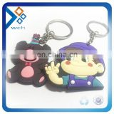Wholesale 3D rubber custom silicone keychain