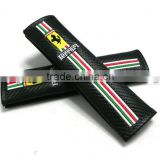Super Quality Ferrari Carbon Fiber Embroidery Seat Belt Shoulder Pads