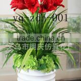 the evergreen leaves large leaf artificial green plants and artificial flowers for indoor decoration