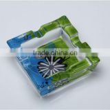 CE/EU/FDA/SGS HIGH QUALITY,SQUARE GLASS ASHTRAY,CRYSTAL GLASS CIGAR ASHTRAY,FANTASTIC GLASS ASHTRAY