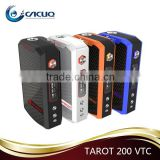 CACUQ Top Selling Box Mod Wholesale Vaporesso TAROT 200W VTC Mod with best price and fast shipping