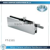 FT-230S glass patch fitting tempered glass door top clamps titanium plated glass top clip