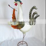 Outdoor metal rooster garden ornaments