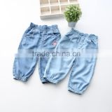 Girls Jeans 2016 Spring New Style Leveret The Embroidey Closed Foot Trousers Children's Pants