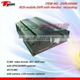 DVR-SD800 8 channel mobile DVR system with SD/HDD recording, digital video recording for various vehicles