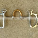 4.75 Kimberwick snaffle English bit w/copper correction port, stainless steel/ veterinary instruments and equipment